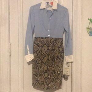 Shirt skirt combo dress